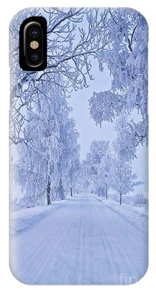 Salo iPhone Case - Frosted Trees by Veikko Suikkanen