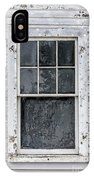 Window Pane iPhone Case - Frosted Window On An Old House by Edward Fielding