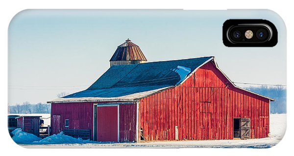 Cold Day iPhone Case - Frosty Farm by Todd Klassy