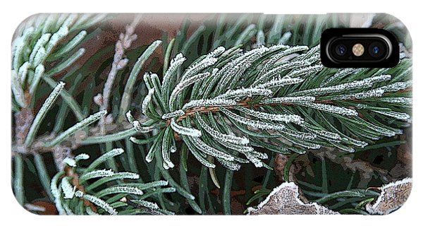 Frosty Pine Branch IPhone Case