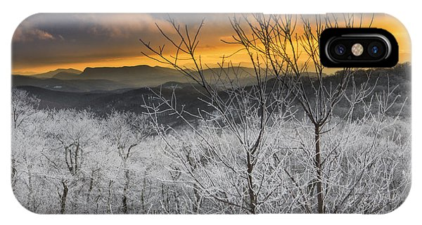 IPhone Case featuring the photograph Frosty Sunset by Ken Barrett