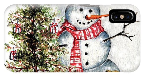 Frosty The Snowman Greeting Card IPhone Case