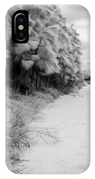Frosty Treeline IPhone Case