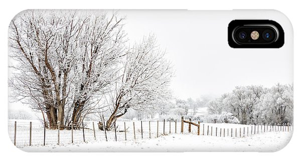 IPhone Case featuring the photograph Frosty Winter Scene by Denise Bush