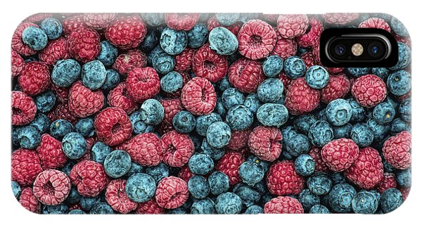 Blue Berry iPhone Case - Frozen Berries by Tim Gainey