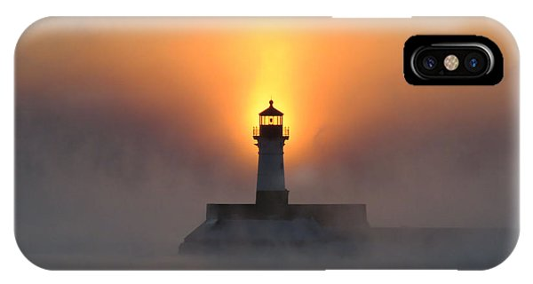 Lake Superior iPhone Case - Sunrise At 18 Below by Alison Gimpel