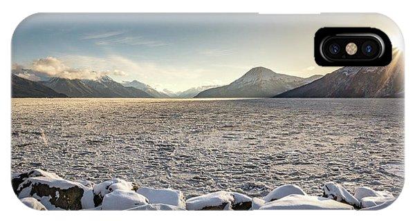 Frozen Fjord Sunrise IPhone Case