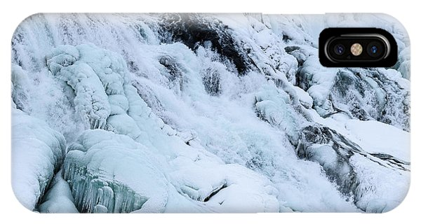 Frozen Gullfoss In Winter IPhone Case