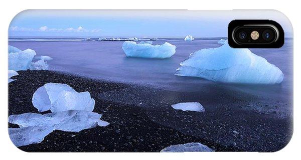 Black Sand iPhone Case - Frozen In Time by Brad Scott