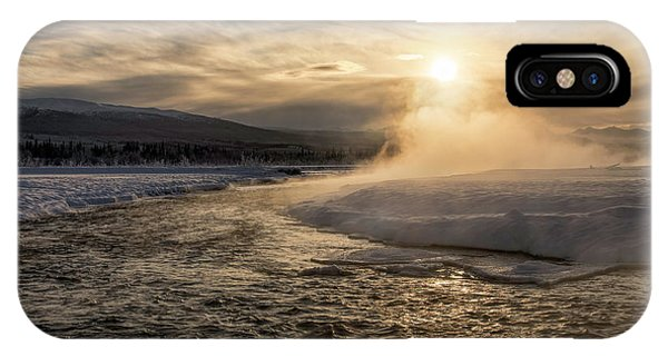 IPhone Case featuring the photograph Frozen Mist by Fred Denner