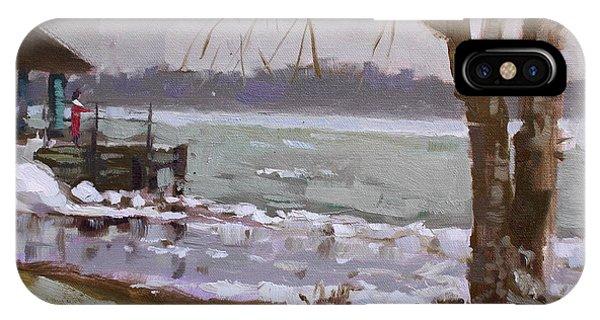 Frozen Niagara River IPhone Case