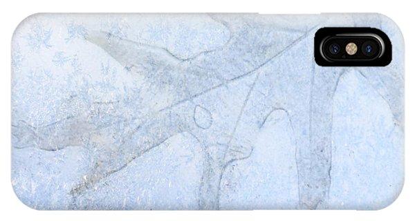 Frozen Oak Leaf Imprint IPhone Case