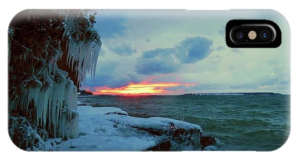 Frozen Sunset In Cape Vincent IPhone Case