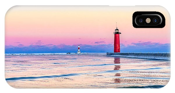 IPhone Case featuring the photograph Frozen Sunset by Steven Santamour