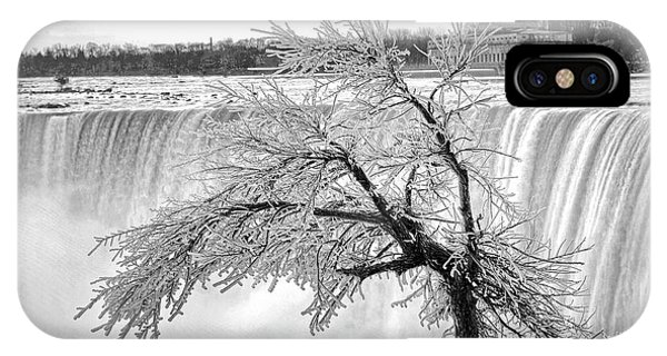 Frozen Tree Near Niagara Falls IPhone Case