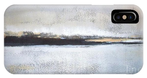 Abstract Landscape iPhone Case - Frozen Winter Lake by Vesna Antic