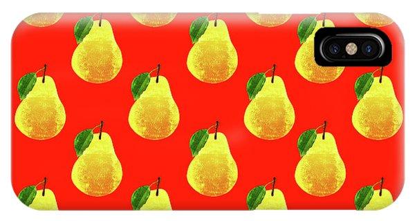 Fruit 03_pear_pattern IPhone Case