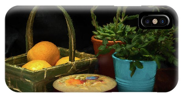 Fruit And Flowers Still Life Digital Painting IPhone Case
