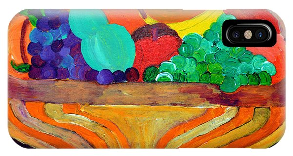 IPhone Case featuring the painting Fruit Bowl 1 by Christopher M Farris