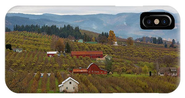 Fruit Orchard Farmland In Hood River Oregon IPhone Case
