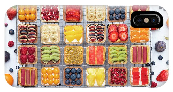 Mango iPhone Case - Fruit Squares  by Tim Gainey