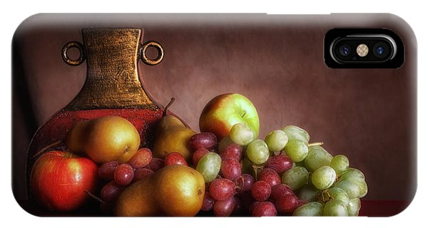 Green Grape iPhone Case - Fruit With Vase by Tom Mc Nemar
