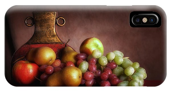 Pear iPhone Case - Fruit With Vase by Tom Mc Nemar