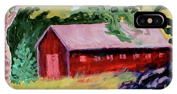 IPhone Case featuring the painting Fruitlands Iv by Priti Lathia