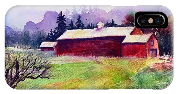 IPhone Case featuring the painting Fruitlands Museum II by Priti Lathia