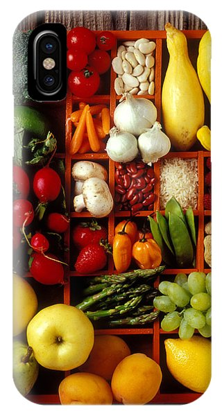 Fruits And Vegetables In Compartments IPhone Case