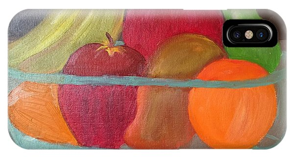 Table For Two iPhone Case - Fruits For A Leaner Longer Life by Ramya Sundararajan