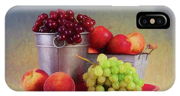 Peach iPhone Case - Fruits On Centerstage by Tom Mc Nemar
