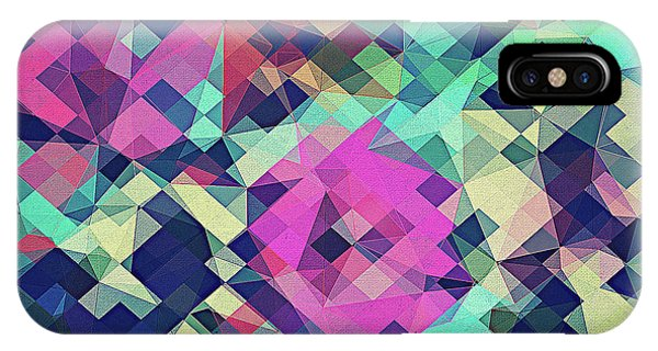 Fall Colors iPhone Case - Fruity Rose   Fancy Colorful Abstraction Pattern Design  Green Pink Blue  by Philipp Rietz