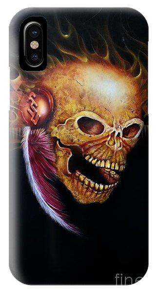 Fsu Flamming Skull IPhone Case
