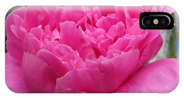 Fuchsia Peony IPhone Case