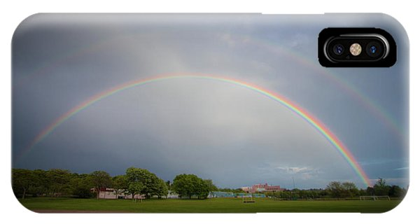 IPhone Case featuring the photograph Full Double Rainbow by Darryl Hendricks