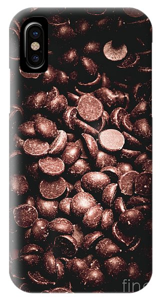 Chip iPhone Case - Full Frame Background Of Chocolate Chips by Jorgo Photography - Wall Art Gallery
