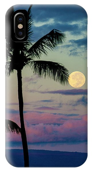 Full Moon And Palm Trees IPhone Case
