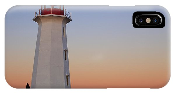 Full Moon At Peggy's Point Lighthouse, Nova Scotia IPhone Case