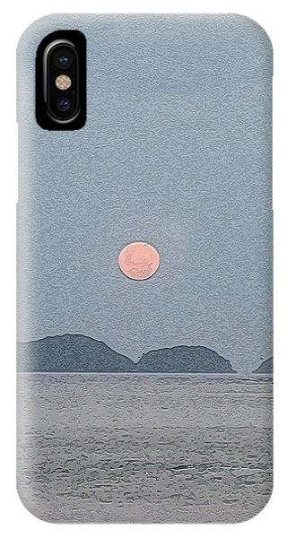 Full Moon At The Beach IPhone Case