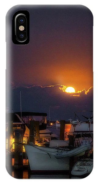 Full Moon At Titusville IPhone Case