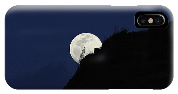 Full Moon Behind Makapu'u IPhone Case