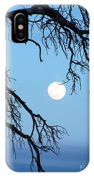 Full Moon Blue Sky IPhone Case