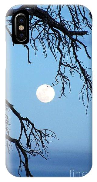 Full Moon Blue Sky IPhone Case