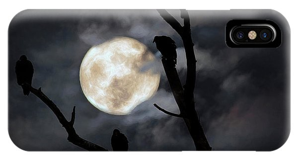 Condor iPhone Case - Full Moon Committee by Darren Fisher