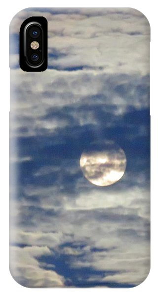 Full Moon In Gemini With Clouds IPhone Case