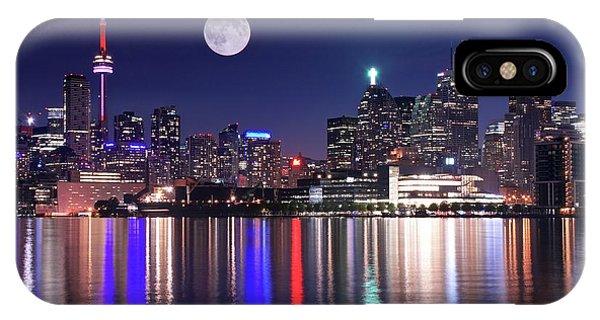 Full Moon In Toronto IPhone Case