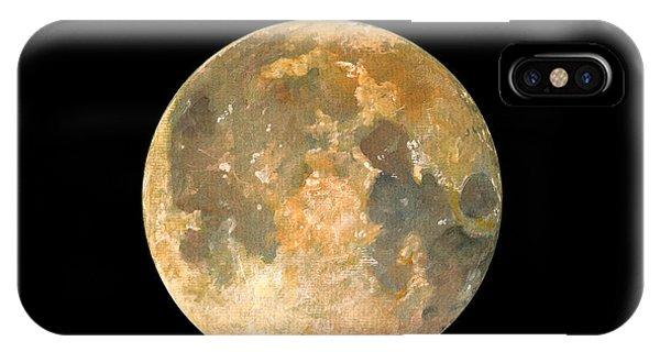 Nasa iPhone Case - Full Moon by Juan Bosco