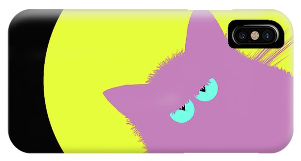 New Trend iPhone Case - Full Moon Lilac Cat by Zaira Dzhaubaeva