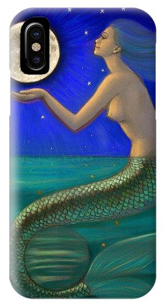 Goddess iPhone Case - Full Moon Mermaid by Sue Halstenberg